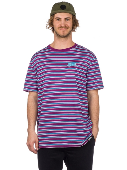 Broken Promises Paranoid Stripe T-Shirt paars