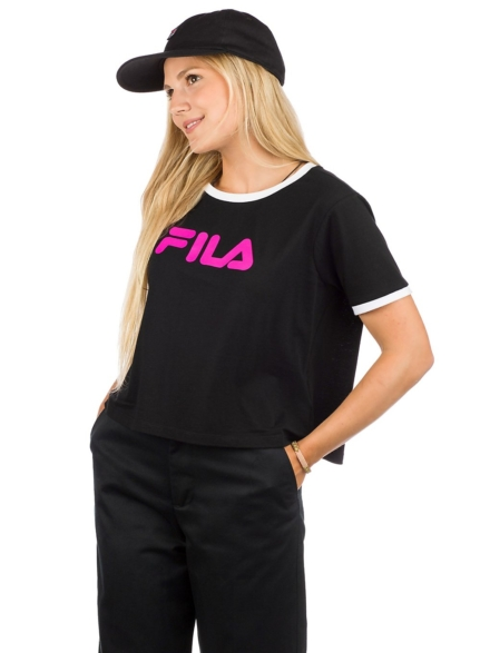 Fila Ashley Cropped T-Shirt zwart