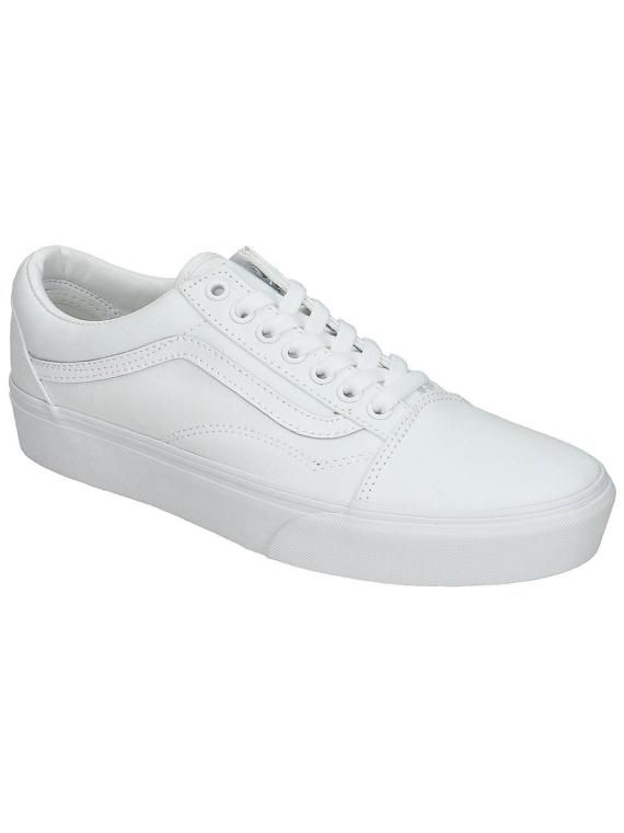 Vans Old Skool Platform Sneakers wit