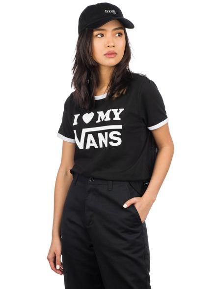 Vans Love Ringer T-Shirt zwart