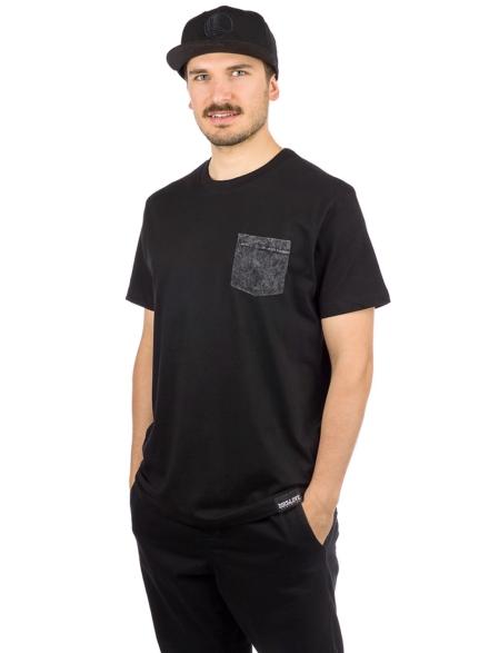 Dirt Love Tie Dye Pocket T-Shirt zwart