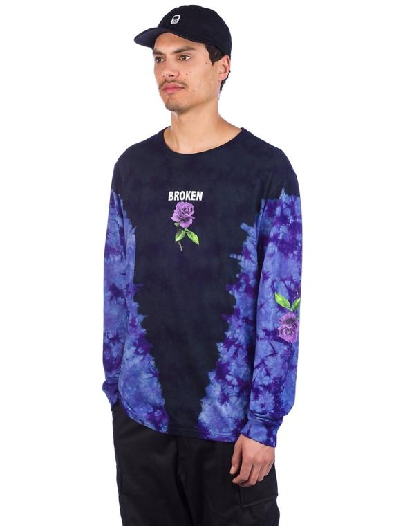 Broken Promises Thornless Tie Dye Long Sleeve T-Shirt zwart