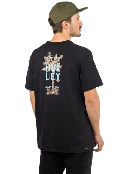 Hurley Dri-Fit Wavy Palm T-Shirt zwart