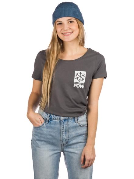 POW Protect Our Winters Left Chest Logo T-Shirt grijs