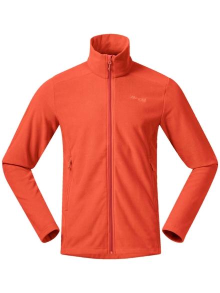 Bergans Finnsnes Fleece Ski jas oranje