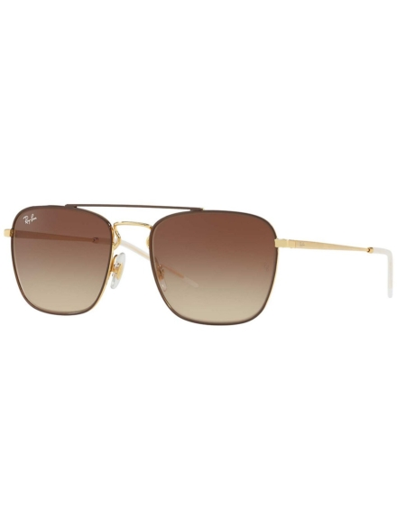 Ray-Ban RB3588 Gold Top On Brown geel