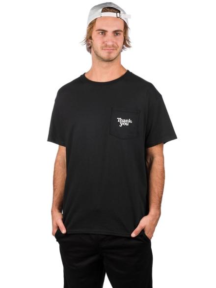 Thank You Pocket T-Shirt zwart