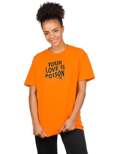 Broken Promises Poison Rose T-Shirt oranje