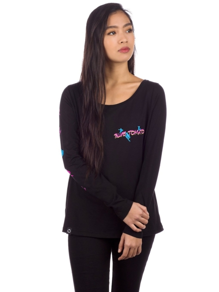 Blue Tomato Silhouettes Long Sleeve T-Shirt zwart