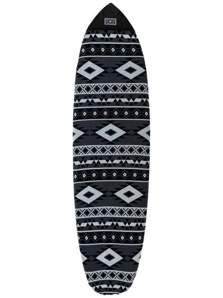 Creatures of Leisure Fish Aztec Sox 5'10 Surfboard tas grijs