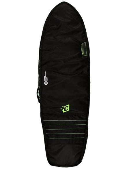 Creatures of Leisure Fish Double 5'10 Surfboard tas zwart