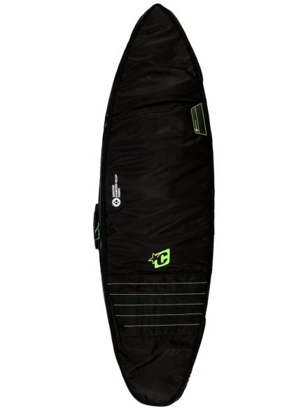 Creatures of Leisure Double 6'7 Surfboard tas zwart