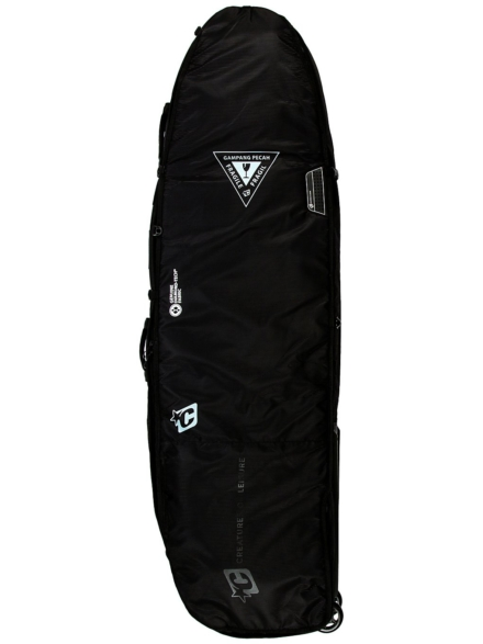 Creatures of Leisure Quad 6'7 Surfboard tas zwart