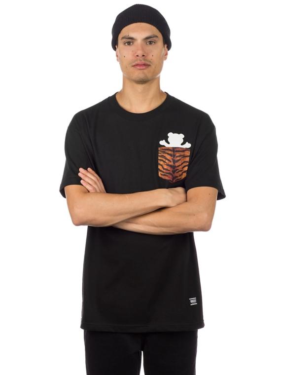 Grizzly Tiger Pocket T-Shirt zwart
