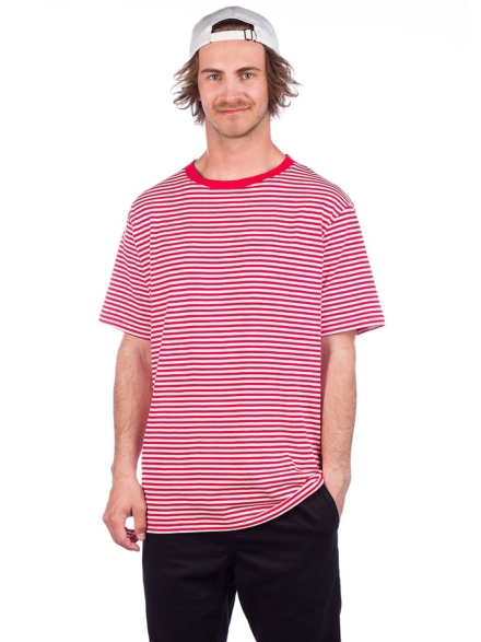 Zine Ranked Striped T-Shirt rood