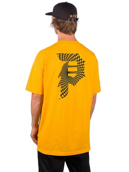 Primitive Dirty P Warp T-Shirt geel