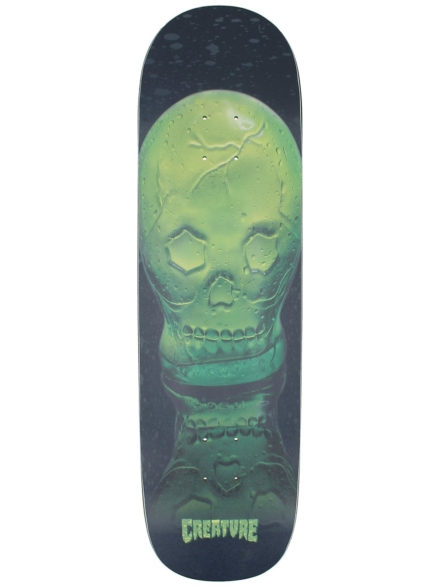 "Creature Green Skull Everslick 8.59"" Skateboard Deck zwart"