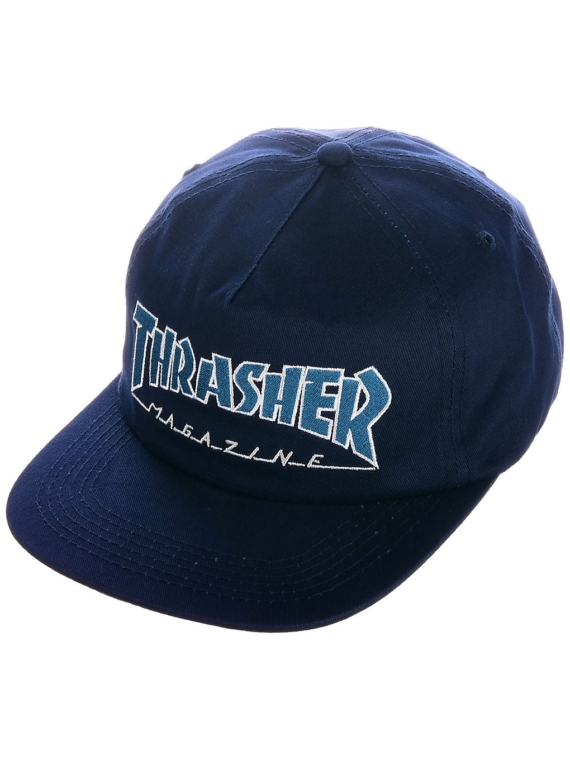 Thrasher Outlined Snapback petje blauw