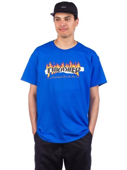 Thrasher Ripped T-Shirt blauw