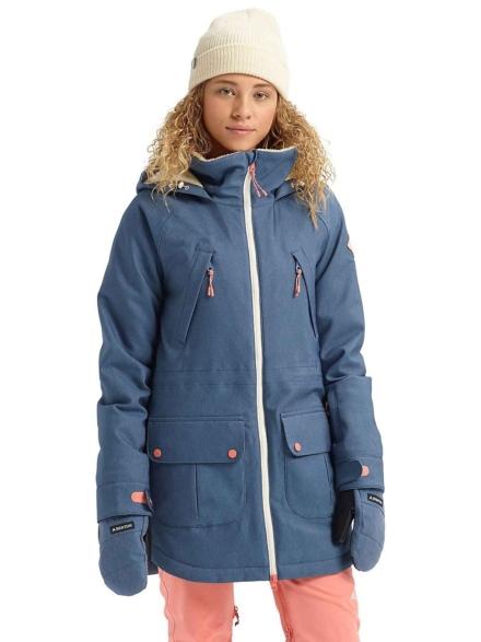 Burton Prowess Stretch Denim Ski jas blauw