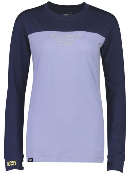 Mons Royale Merino Yotei Bf Tech t-shirt met lange mouwen blauw