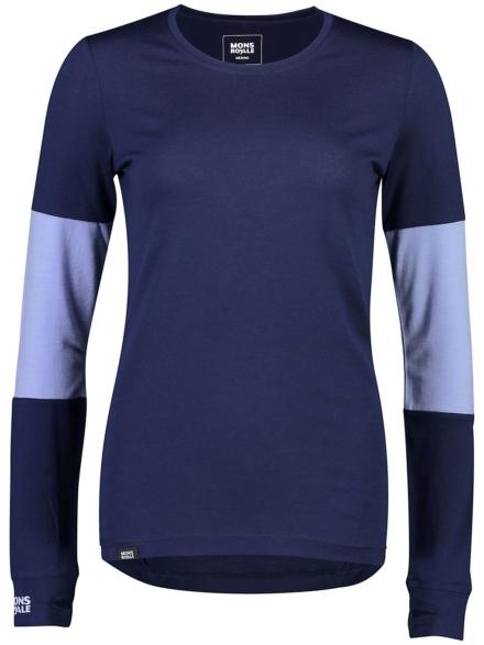 Mons Royale Merino Cornice Tech t-shirt met lange mouwen blauw