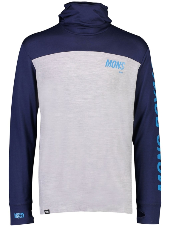 Mons Royale Merino Yotei Powder Tech t-shirt met lange mouwen blauw