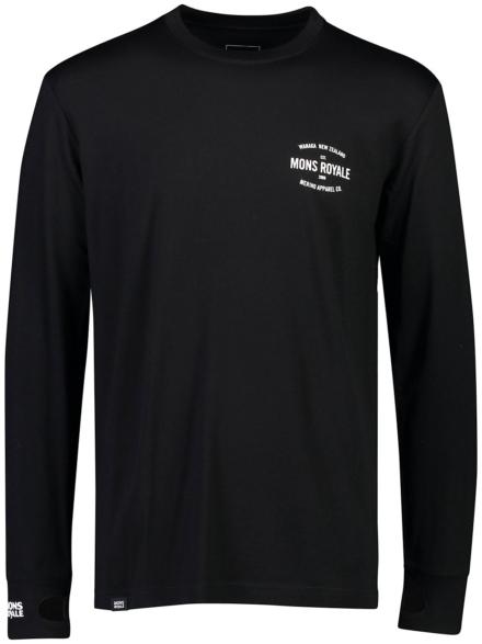 Mons Royale Merino Yotei Tech t-shirt met lange mouwen zwart