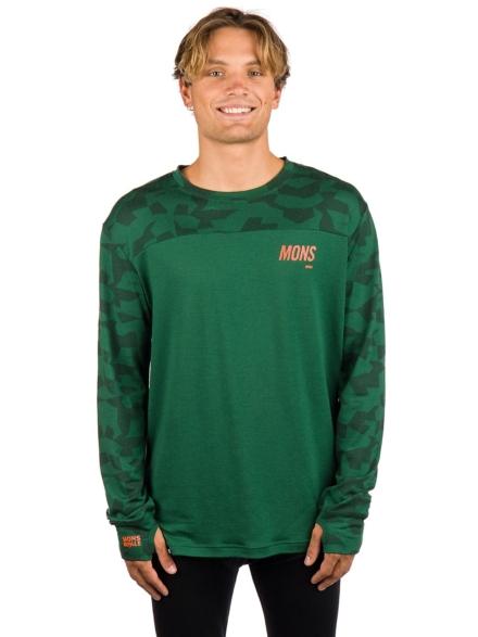 Mons Royale Merino Yotei Tech t-shirt met lange mouwen camouflage