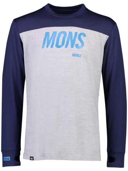 Mons Royale Merino Yotei Tech t-shirt met lange mouwen blauw