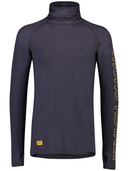 Mons Royale Merino Temple Flex Tech t-shirt met lange mouwen grijs