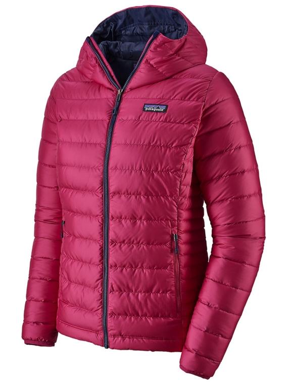 Patagonia Down Trui Hooded Ski jas roze