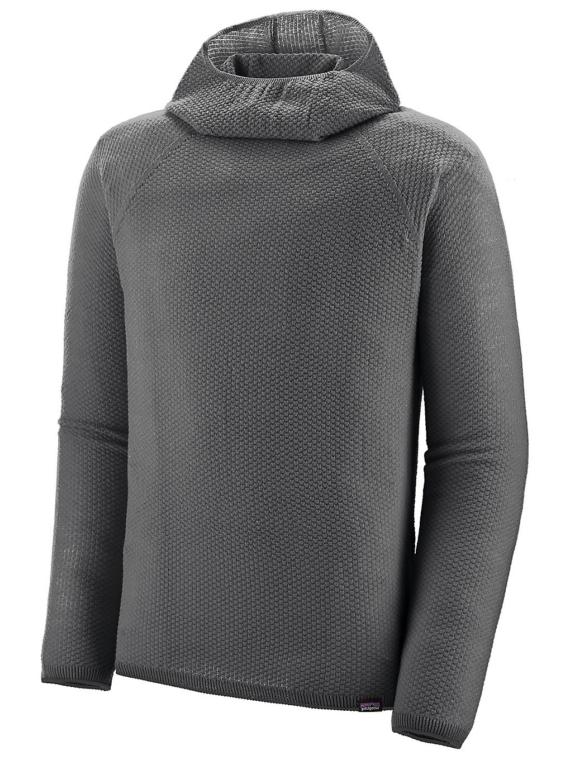 Patagonia petjeilene Air Hooded Tech t-shirt met lange mouwen grijs