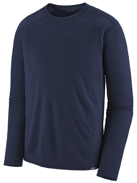 Patagonia petjeilene MW Tech t-shirt met lange mouwen blauw