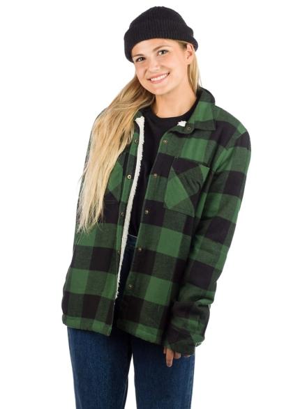 Volcom Plaid About You Shirt met lange mouwen groen