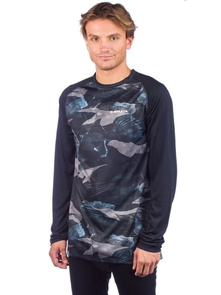 Armada Contra Crew Tech t-shirt met lange mouwen blauw