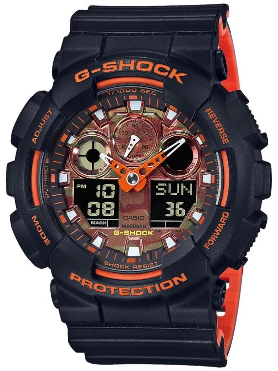 G-SHOCK GA-100BR-1AER zwart
