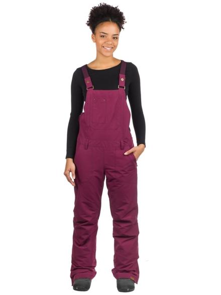 Roxy Rideout Bib broek rood