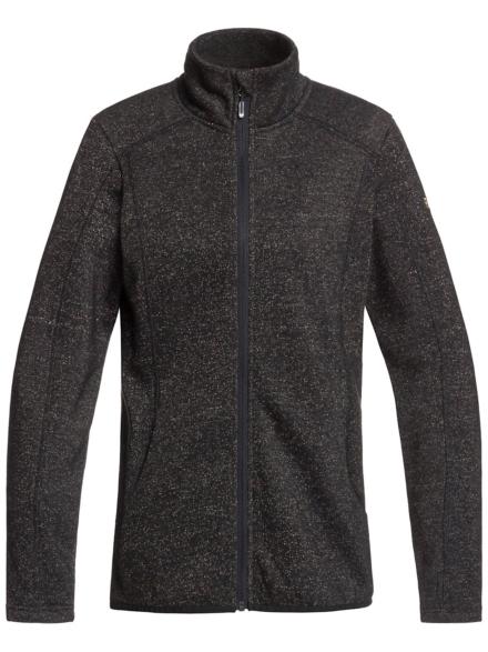 Roxy Harmony Shimmer Fleece Ski jas zwart