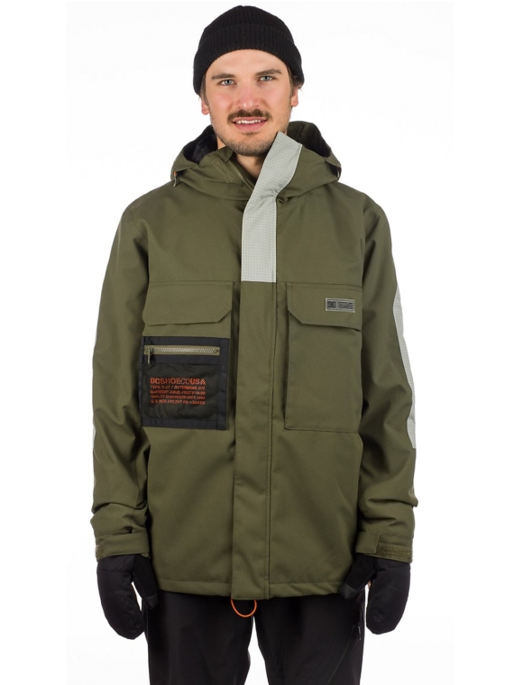 DC Defiant Ski jas groen