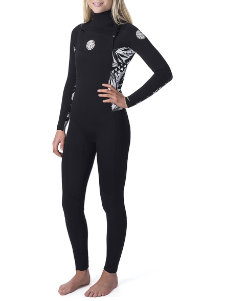 Rip Curl Dawn Patrol 4/3 GB Chest Zip Wetsuit zwart