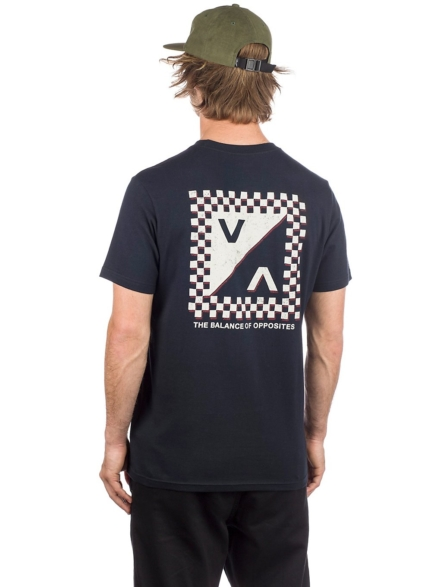 RVCA Check Mate T-Shirt zwart