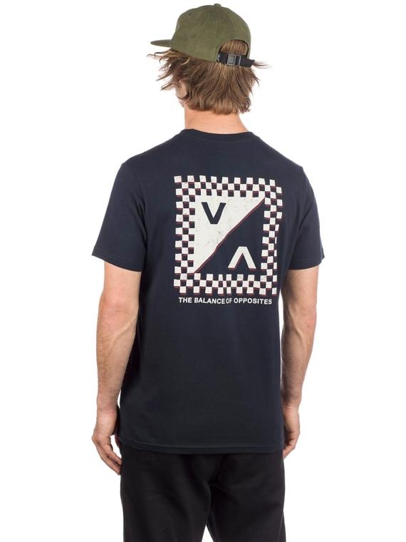 RVCA Check Mate T-Shirt zwart