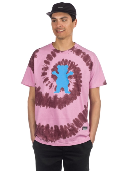 Grizzly Spin Bear T-Shirt roze
