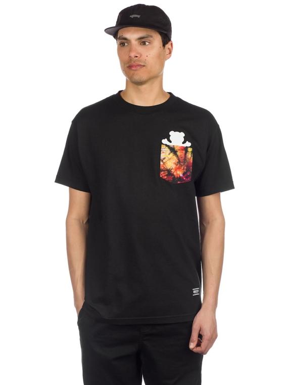 Grizzly Tie Dye Pocket T-Shirt zwart
