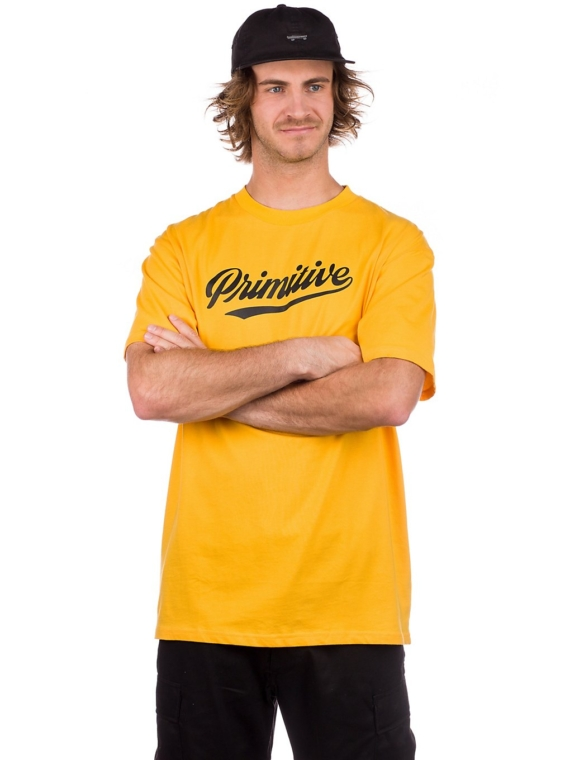 Primitive Luke Script T-Shirt geel