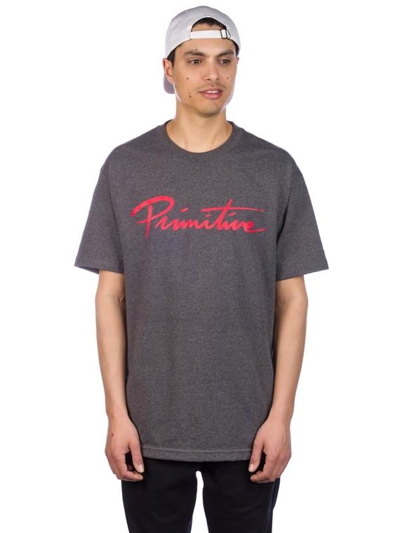 Primitive Nuevo Script T-Shirt grijs