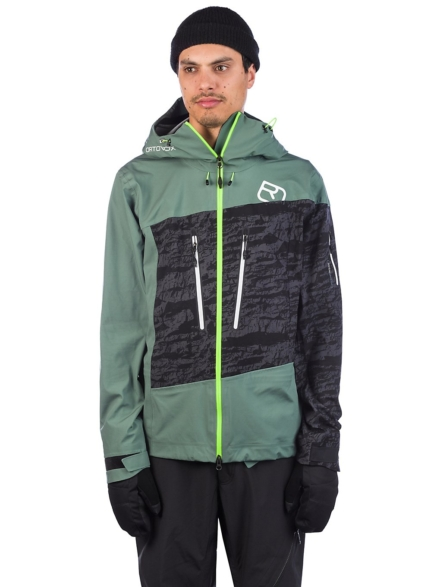Ortovox 3L Guardian Shell Ski jas groen