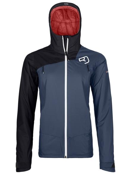 Ortovox 2L Swisswool Leone Ski jas blauw