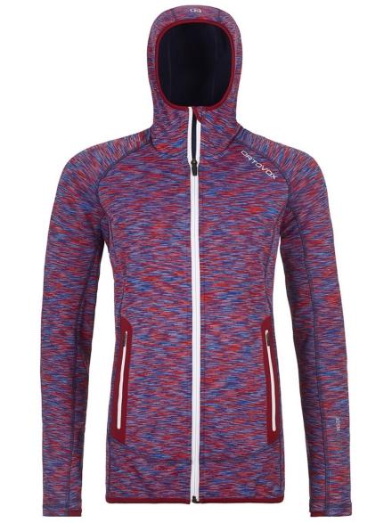 Ortovox Space Dyed Hooded Fleece Ski jas rood